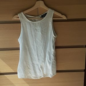 100% Linen Lord & Taylor Button Back Tank XSP